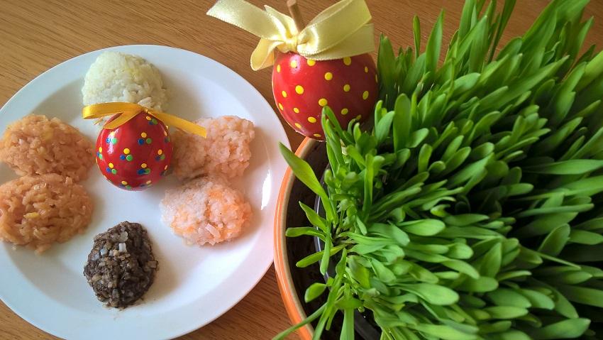 Velikonoce bez chemie: barevná rýžová vajíčka