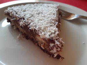 Kokosový raw dort bez cukru, bez mléka a bez mouky