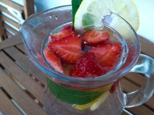 Jahodová limonáda bez cukru